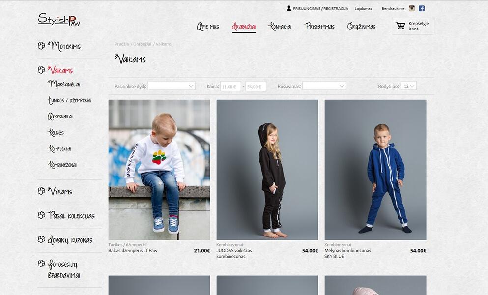 internetine prekyba drabuziais